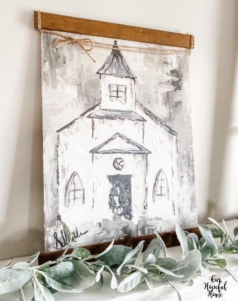 Kirkland's rustic church painting