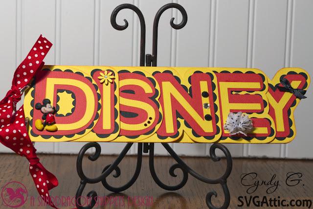 Disney word autograph book