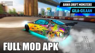 game yang bergenre racing ataupun drift yang mempunyai gameplay sangat seru dan menarik Download Drift Max World v1.77 MOD APK Unlimited Money
