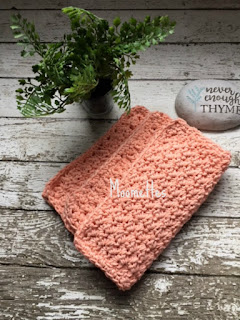 Handmade Kitchen Dish Cloths Peach Washcloths