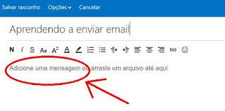 Como escrever um texto de email
