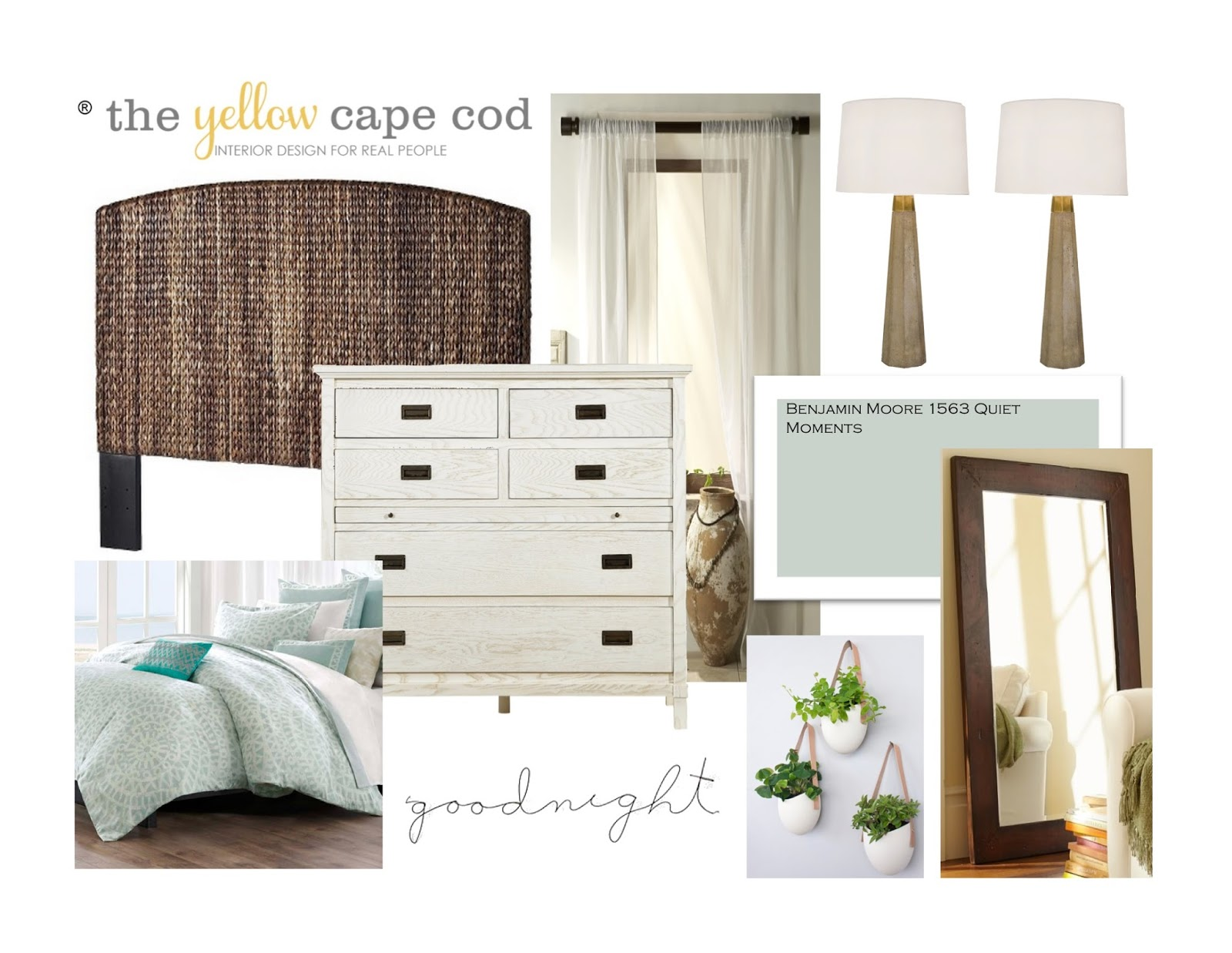 The yellow cape cod a contemporary coastal style master for Cape cod style bedroom ideas