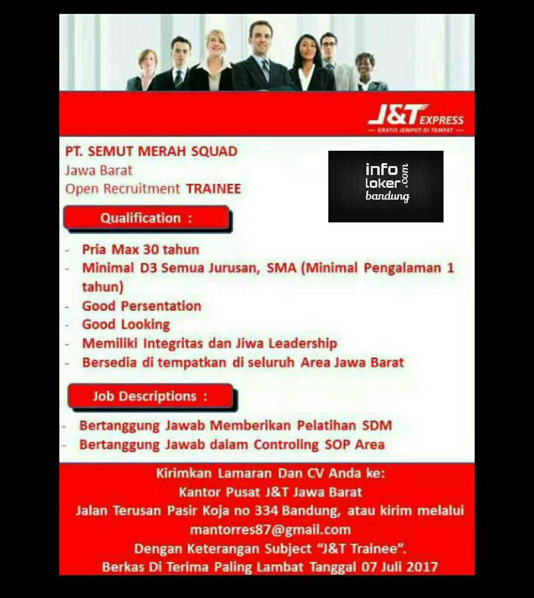 Lowongan Kerja J&T Express Bandung Juli 2017