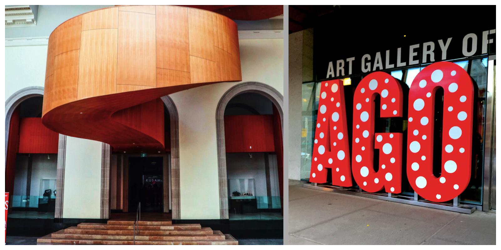 art gallery of ontario staircase entrance AGO
