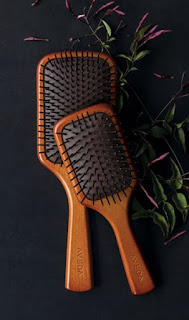 Aveda wooden large paddle vegan brushes