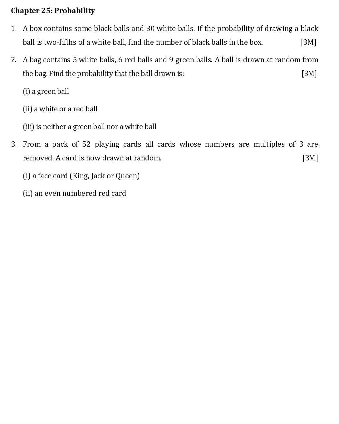 ICSE Maths Chapter Wise Important Questions Class 10