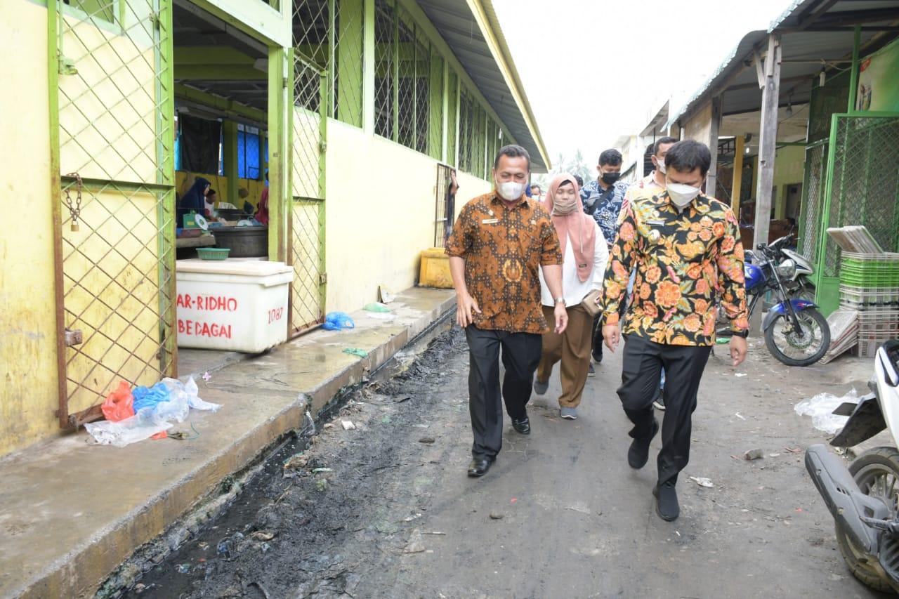 Wabup Sergai Tinjau Pasar Rakyat di Kecamatan Perbaungan