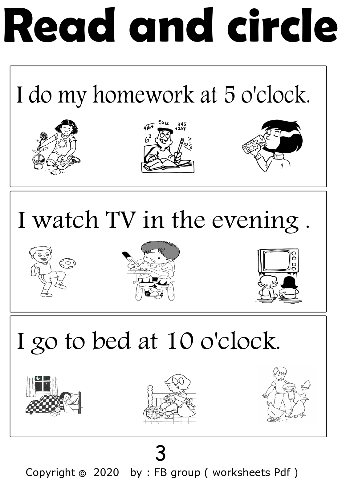 Download Read And Circle Worksheet Free File Part 3