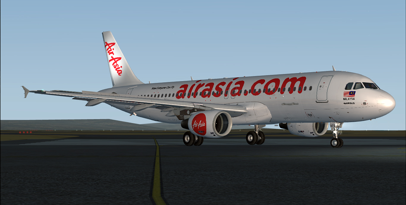 Airbus A320-216 / AirAsia / 9M-AFO / Reversed Livery
