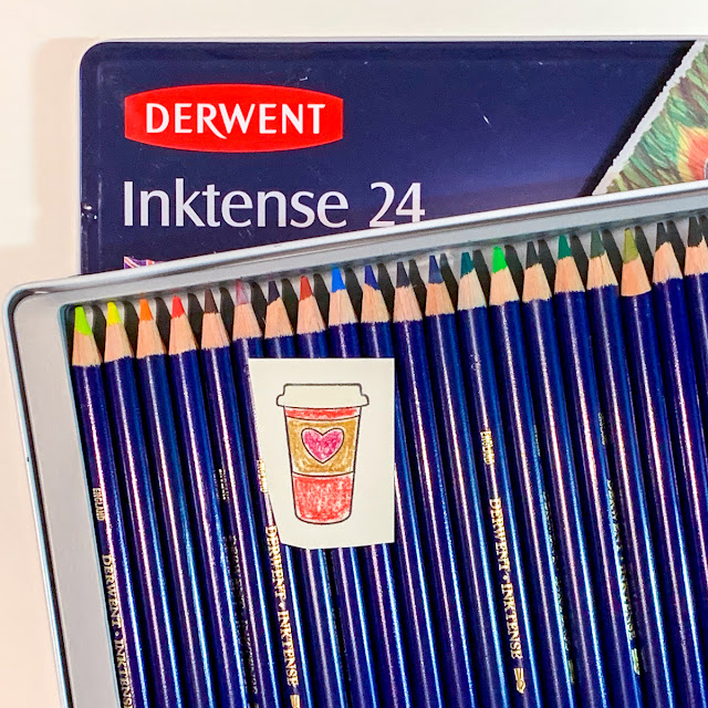 Water colours with Derwent Intense pencils