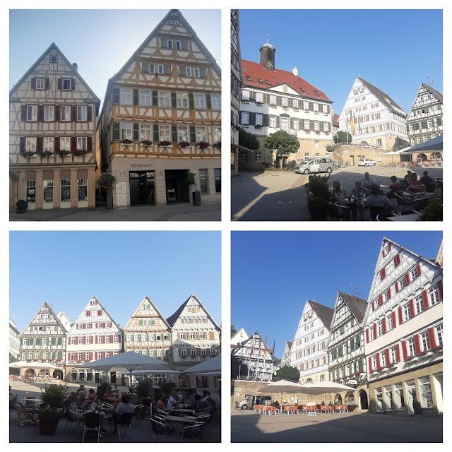 Esslingen e Herrenberg - onde ver casas enxaimel perto de Stuttgart