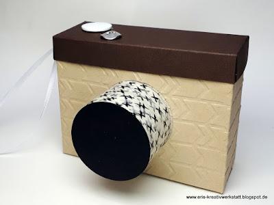 Kamera-Verpackung für Geldgeschenke Stampin' Up! www.eris-kreativwerkstatt.blogspot.de