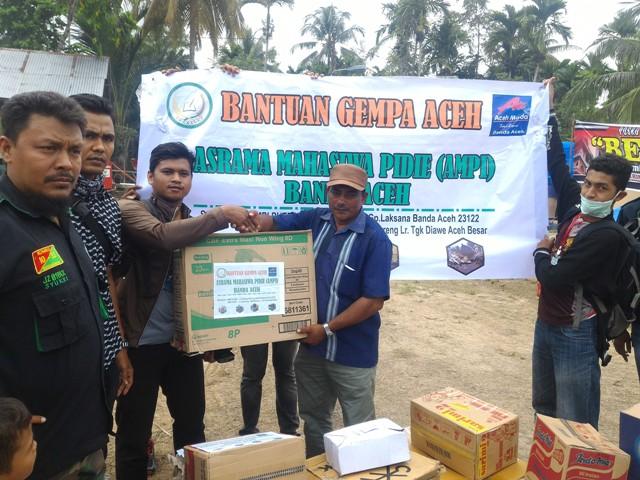 Asrama Mahasiswa Pidie Salurkan Bantuan Bagi Korban Gempa Pidie Jaya