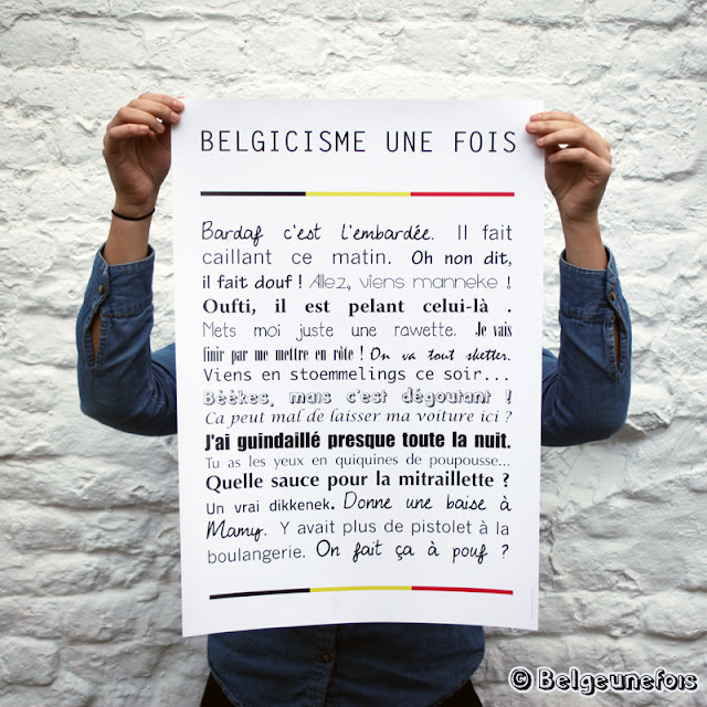 Poster des belgicismes Belge une fois