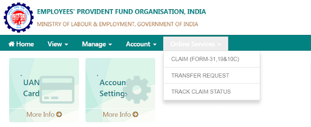 Withdraw EPF online through UAN