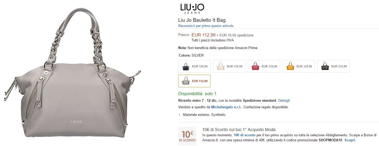 Prezzo Borsa Liu Jo 'Se Mia' della collezzione It Bag 2016 della pubblicità: da 112€