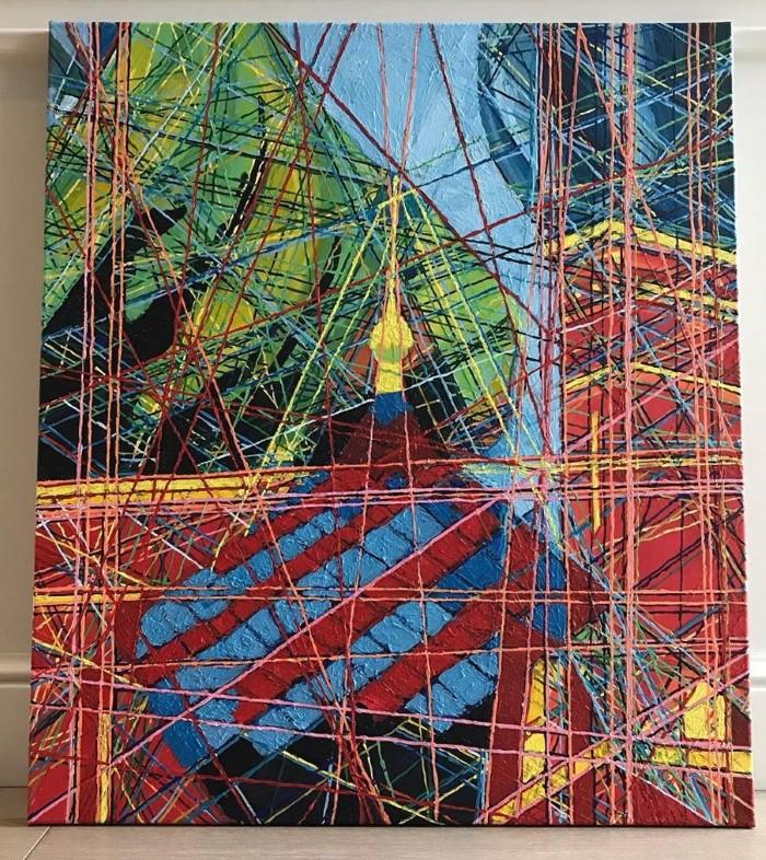 Современный художник-абстракционист.