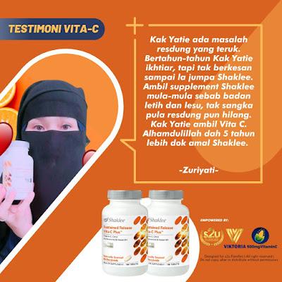 Testimoni Vitamin C Shaklee Untuk Resdung
