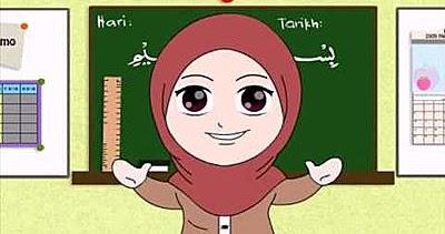 1001 Gambar Kartun Guru Muslimah Sedang Mengajar Pilihan Cikimm Com