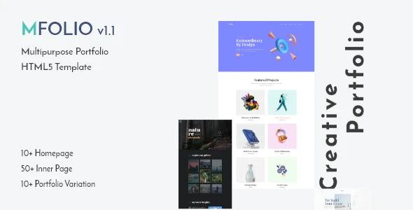 Multipurpose Portfolio Showcase Website Template