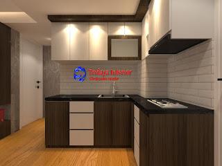 kitchen set apartemen meikarta terbaru