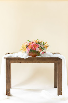 At Last Wedding wooden farm table rental