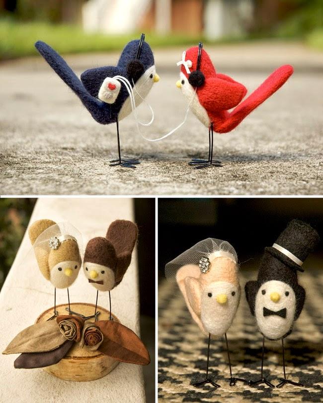 Love Birds Wedding Cake Topper