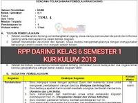 Download RPP Daring 1 Lembar SD/MI Kelas 6 Tema 4 Semester 1 Terbaru