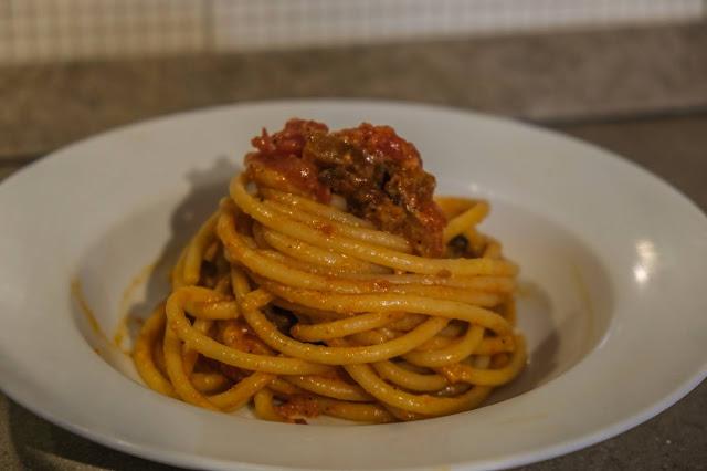 Ricetta della pasta all'amatriciana