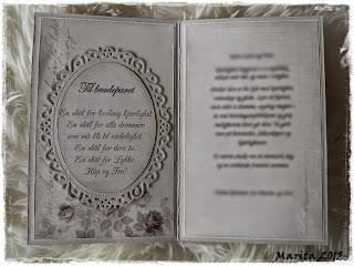 Maritas Hobbyblogg: Bryllupskort og eske