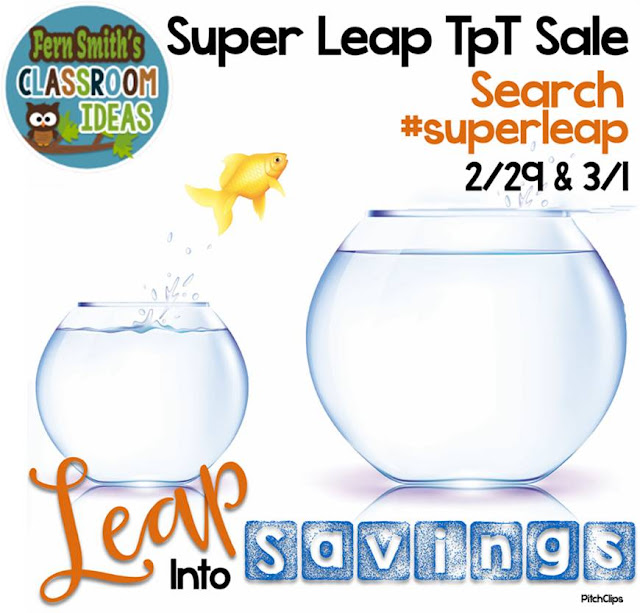 Fern Smith's Classroom Ideas Monday Super Leap Year Sale and Super Tuesday Sale at TeacherspayTeachers!