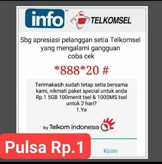 TERBARU Paket Spesial Telkomsel Internet 5 GB Cuma Rp 1, Plus Telepon 100 Menit, Cuma Melalui UMB Berikut Ini
