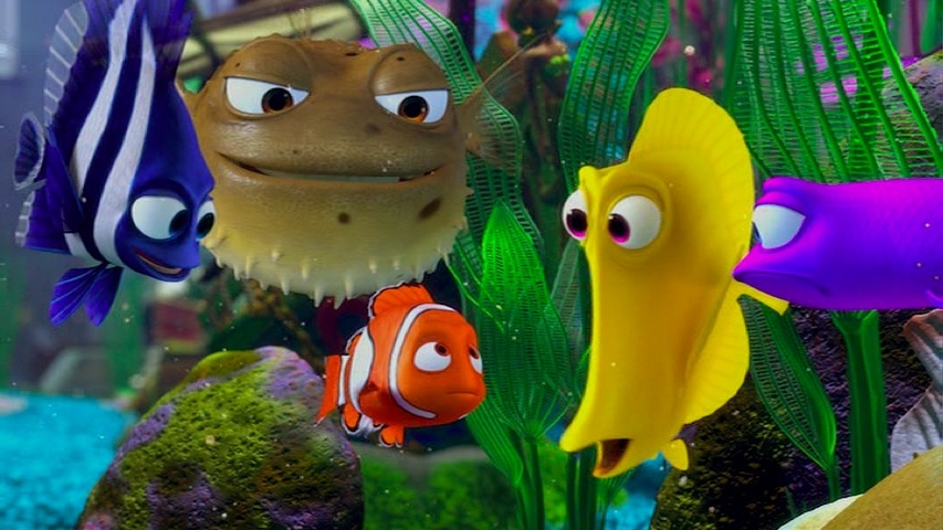 Director 39 s commentary track review finding nemo pixar post for Nemo fish tank