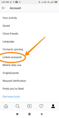 How to link Instagram account with facebook
