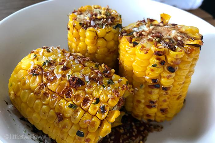 Zushi, Barangaroo: Teriyaki corn cobs - char-grilled sweet corn, sweet soy, furikake