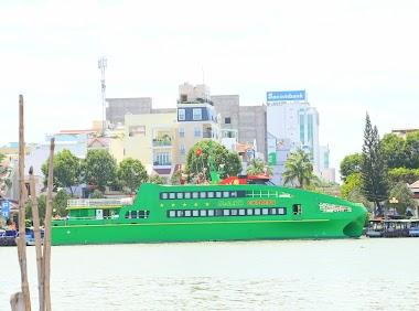 Hình ảnh tàu cao tốc Mai Linh Express tại Cần Thơ