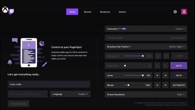 ابدأ البث مع Twitch