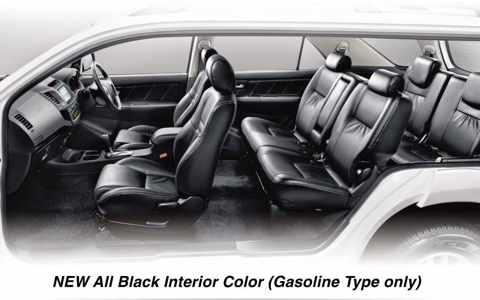 new-fortuner all-black interior