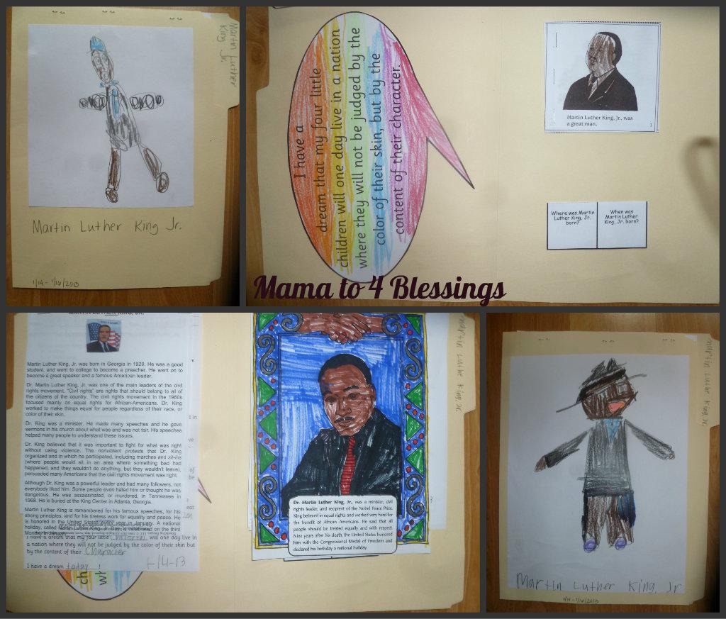Martin Luther King Jr Lapbook Amp Craft