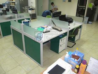 Meja Kerja Kubikel 4 Orang