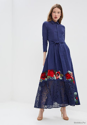 Vestidos Azules con Zapatos