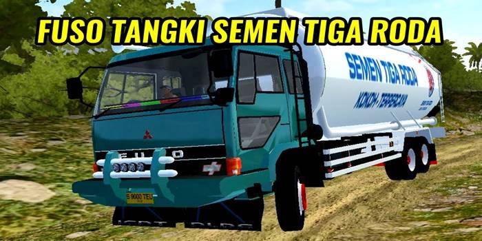mod fuso tangki semen tiga roda