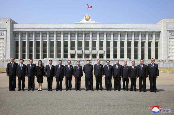 kim jong with new spa presidium members