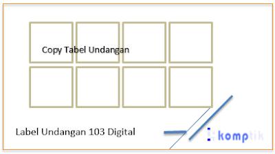 Label Undangan 103 Digital