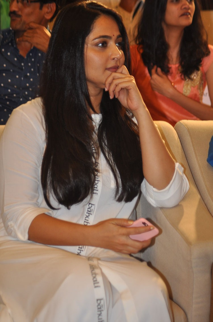 Anushka Shetty at The World of Baahubali Press Meet Gallery