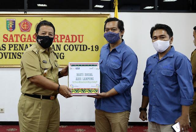 Gubernur Arinal Apresiasi Kontribusi BUMN, OJK, dan Asosiasi Asuransi dalam Percepatan Penanganan Covid-19 di Provinsi Lampung