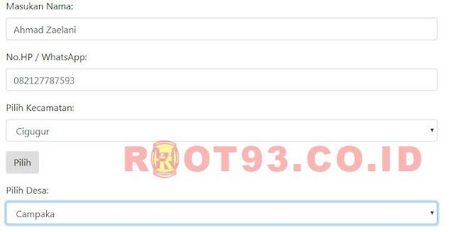 menampilkan nama - nama desa dari kecamatan di dalam select option - root93