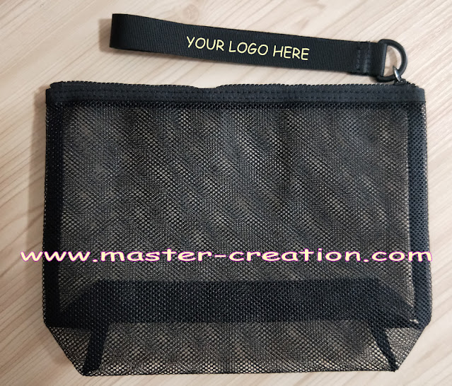 black mesh ziplock bag
