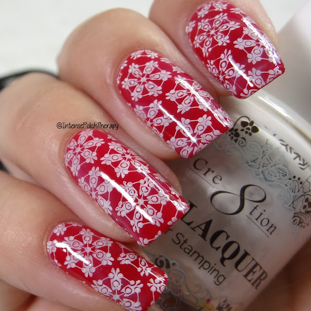 Lina Nail Art Supplies Winter 01, Cre8tion White Stamping lacquer & Bundle Monster Mini Dual Ended Clear Stamper