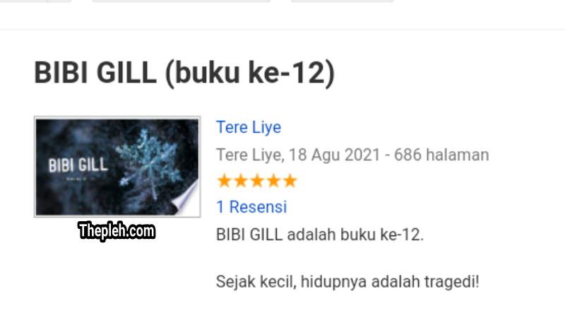 Novel BIBI GILL Karya Tere Liye
